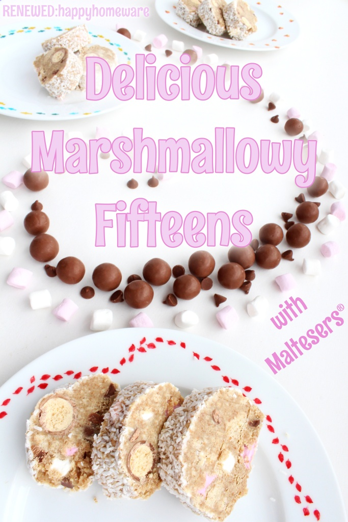Fifteens recipe with maltesers mini marshmallows